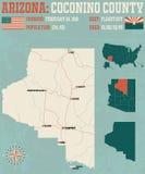 Arizona: El condado de Coconino ilustración del vector