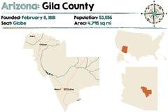 Arizona: El condado de Gila stock de ilustración