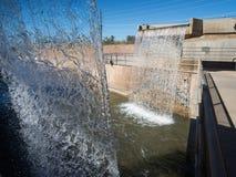 Arizona Falls in Phoenix, Arizona. Arizona Falls, restored hydroelectric power plant in Phoenix, Arizona Royalty Free Stock Photo