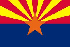 arizona flagę Obrazy Royalty Free