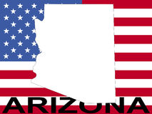 Arizona With Flag Stock Photography