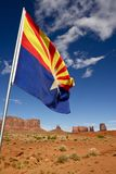 Arizona Flag and Lands Stock Image