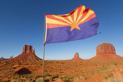 Arizona Flag in Monument Valley Stock Photos