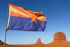 Arizona Flag in Monument Valley Royalty Free Stock Photography