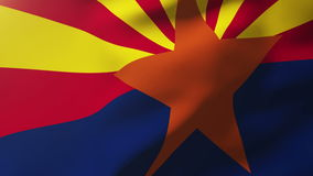 Arizona flag waving in the wind. Looping sun rises. Arizona flag waving in the wind. Loops sun rises style stock video footage