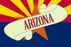 Arizona flaga ślimacznica ilustracji