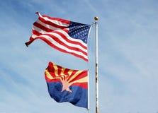 Arizona-Flagge Lizenzfreies Stockfoto