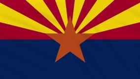 Arizona-Flagge flattert im Wind, Schleife für Hintergrund stock abbildung