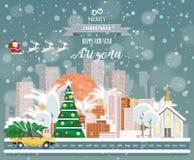 Arizona, glad jul och ett lyckligt nytt år! Arkivfoton