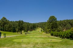 An Arizona golf course on a summer day Royalty Free Stock Images