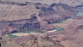 Arizona, Grand Canyon, The Colorado River with flowing water and rapids stock video footage