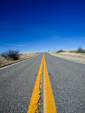 Arizona grasslands road Royalty Free Stock Photography