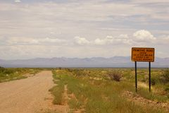 Arizona gravel road Stock Image