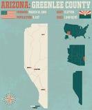 Arizona: Greenelee okręg administracyjny Zdjęcia Stock