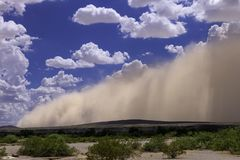 Arizona Haboob Sandstorm With Cloudy Sky Royalty Free Stock Photography