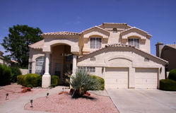 Arizona-Haus lizenzfreie stockfotos