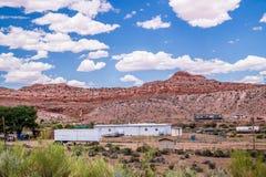 Arizona, het dorp van de Navajo Het dorpsleven van Inheemse Amerikanen stock foto's