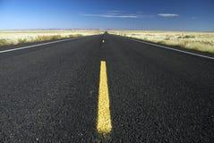 Arizona Highway. Straight empty highway in the Arizona desert stock images