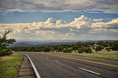 Arizona highway, monsoon season Royalty Free Stock Photos