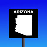 Arizona highway sign Royalty Free Stock Photos