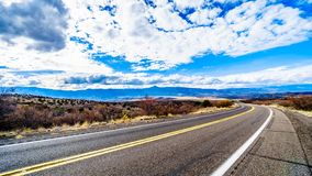 Arizona Highway SR260 in Grand Canyon Rim Country just east of the town of Camp Verde. In Northern Arizona royalty free stock photo