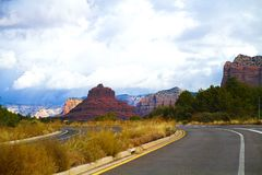 Valley at sedona, united states. Arizona highway, verde valley at sedona, united states Royalty Free Stock Photo
