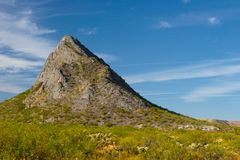 Arizona Hill. A rocky hill in Arizona surrounded by cactus Royalty Free Stock Photography