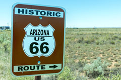 Arizona Historic Route 66 road sign. Stock Images