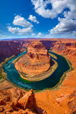 Arizona Horseshoe Bend meander of Colorado River. In Glen Canyon Royalty Free Stock Images