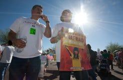 Arizona Immigration SB1070 Protest Rally Stock Photos