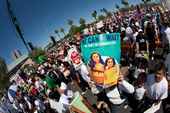 Arizona Immigration SB1070 Protest Rally Royalty Free Stock Image