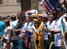 Arizona Immigration SB1070 Protest Rally Royalty Free Stock Photos