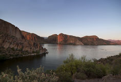 Arizona Lake at sunset Stock Photography