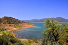 Arizona lake. View of Lake Roosevelt, Arizona, a reservoir on the Salt River Stock Photography