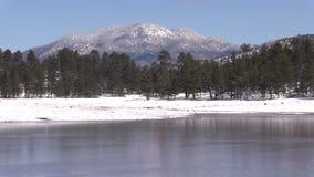 Arizona Lake Winter Landscape stock footage