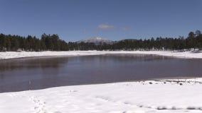 Arizona Lake in Winter stock video footage