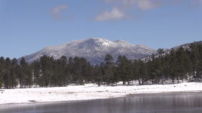 Arizona Lake in Winter Zoom Out stock footage
