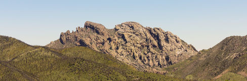 An Arizona Landmark Known as Cochise's Head Royalty Free Stock Photo