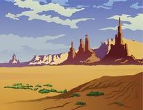 Arizona Landscape. Landscape of the Arizona desert stock illustration