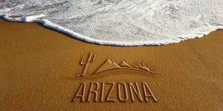 Arizona landskap i strand Fotobild arkivbilder