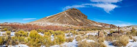 Arizona landskap med snö royaltyfria bilder