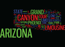 Arizona Limousine Tours Can Take You Anywhere Word Cloud Concept Stock Photography