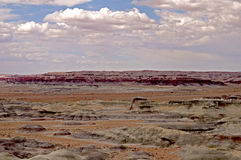 Arizona Little Painted Desert. Gently sloping colored mounds set in desert stock images