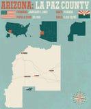 Arizona: Losu Angeles Paz okręg administracyjny Obrazy Stock