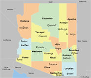 Arizona mapa Obraz Royalty Free