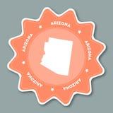 Arizona mapy majcher w modnych kolorach Zdjęcie Royalty Free