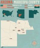 Arizona: Maricopa okręg administracyjny ilustracji
