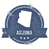 Arizona mark. Travel rubber stamp with the name and map of Arizona, vector illustration. Can be used as insignia, logotype, label, sticker or badge of USA Stock Image