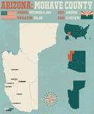 Arizona: Mohave okręg administracyjny ilustracji