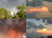Arizona Monsoon Clouds and Rainbow Royalty Free Stock Images
